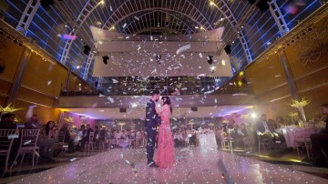 Sikh wedding at east winter garden in Canary Wharf, London