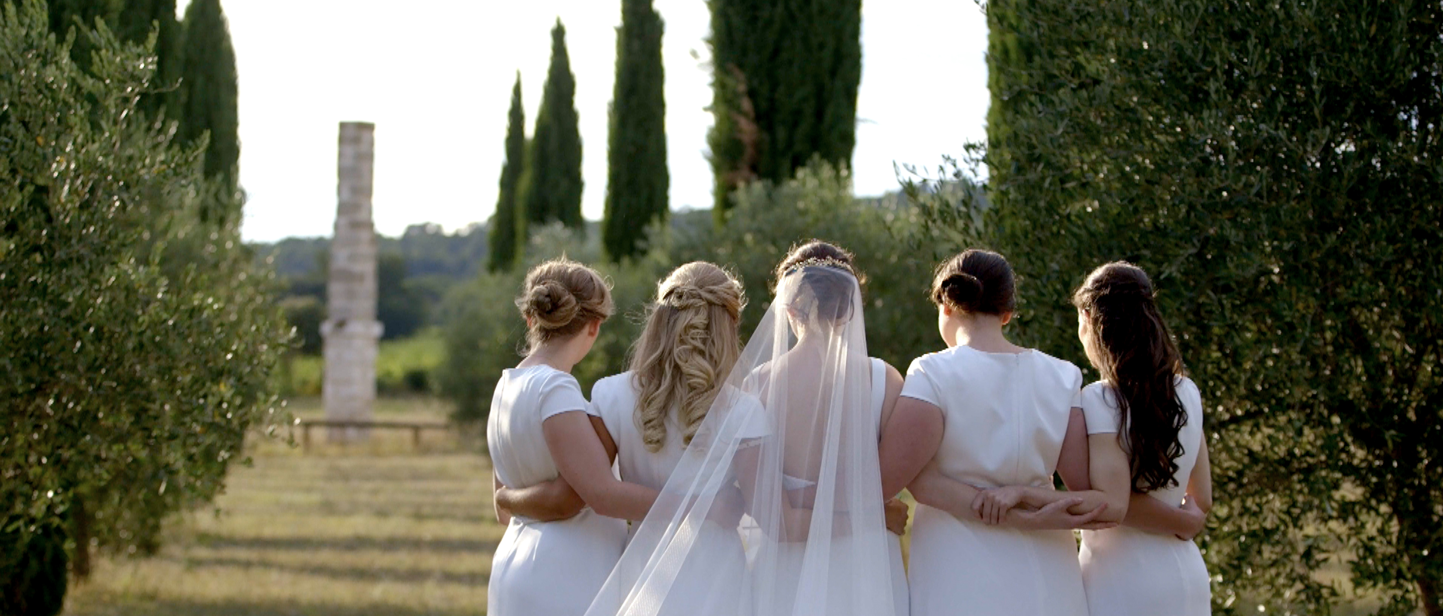 beautiful south of france wedding  bridesmaids