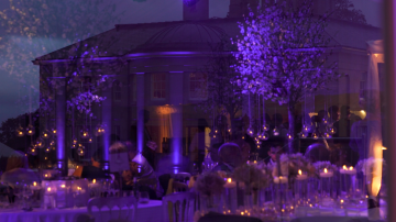 Humanist wedding ceremony and luxury marquee reception