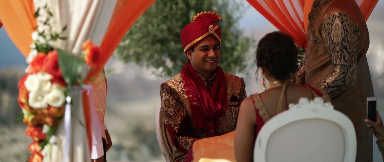 Indian Wedding Ceremony Groom Santorini