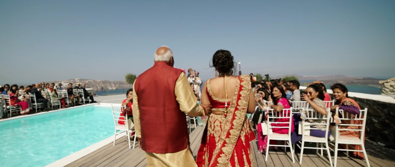 Indian Wedding Santorini Ceremony