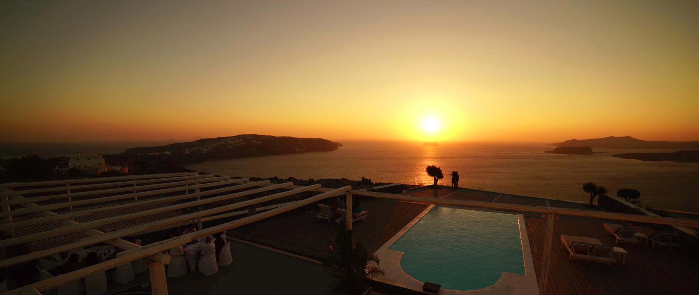 Indian Wedding Santorini Sunset Caldera