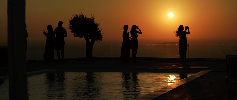 Indian Wedding Santorini Sunset