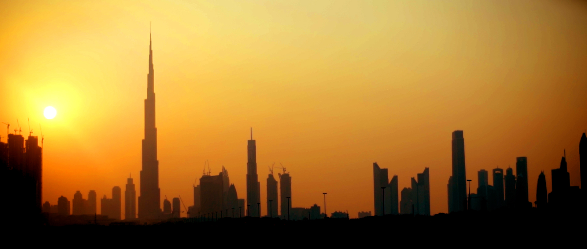 Wedding Dubai skyline Sunset