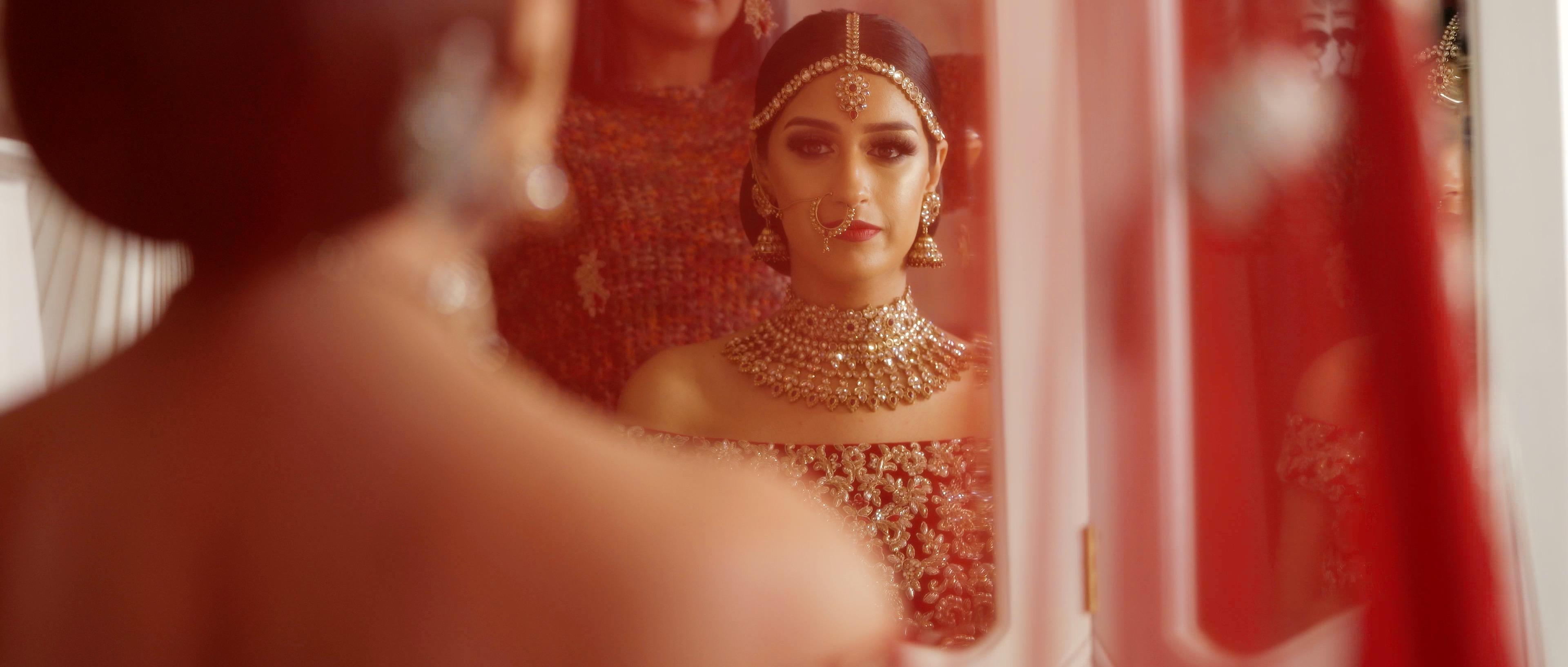 indian bride wedding chateau impney
