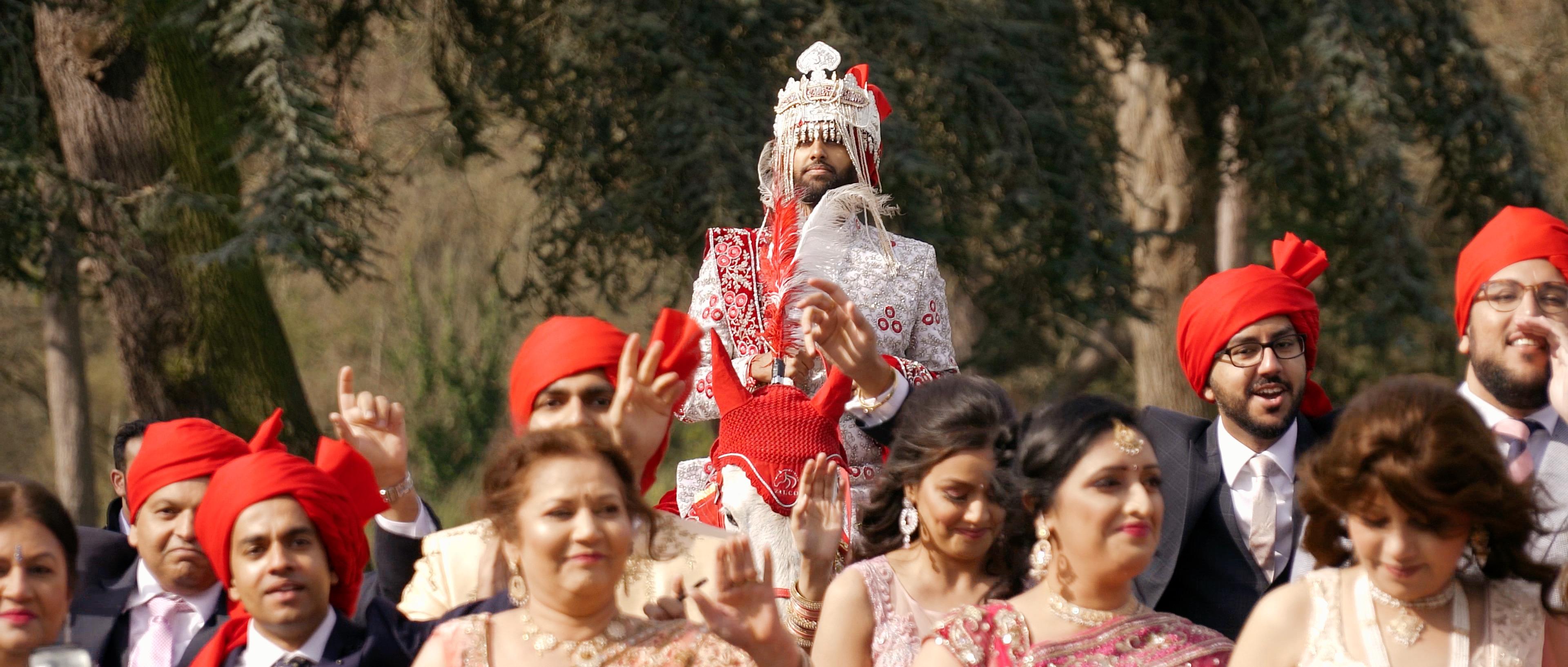 indian wedding baraat chateau impney