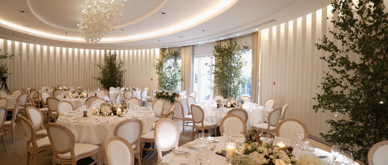 coworth park wedding decor flowers lavender green royal wedding
