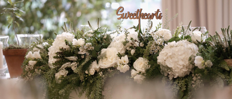 coworth park wedding decor flowers lavender green