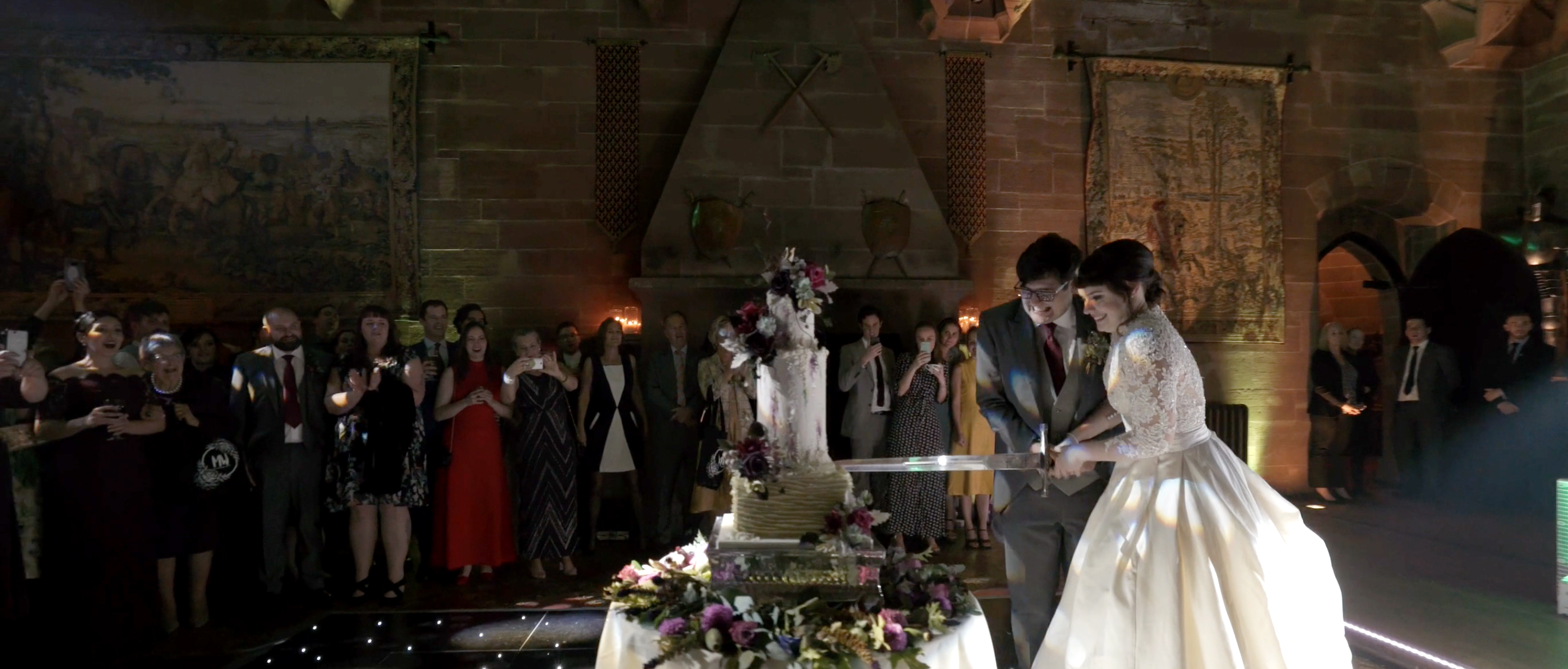 peckforton castle the frostery wedding cake wedding videographer cheshire 2