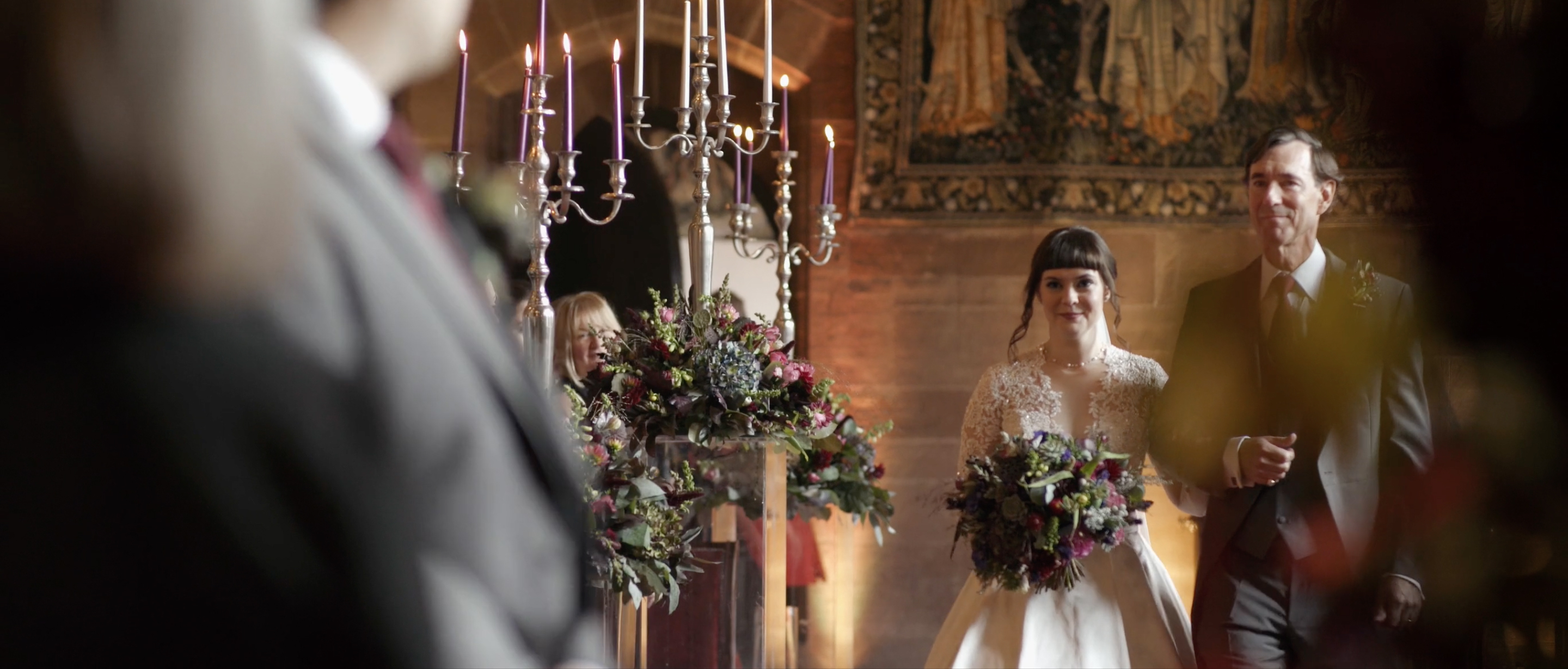 peckforton castle wedding ceremony cheshire wedding videographer