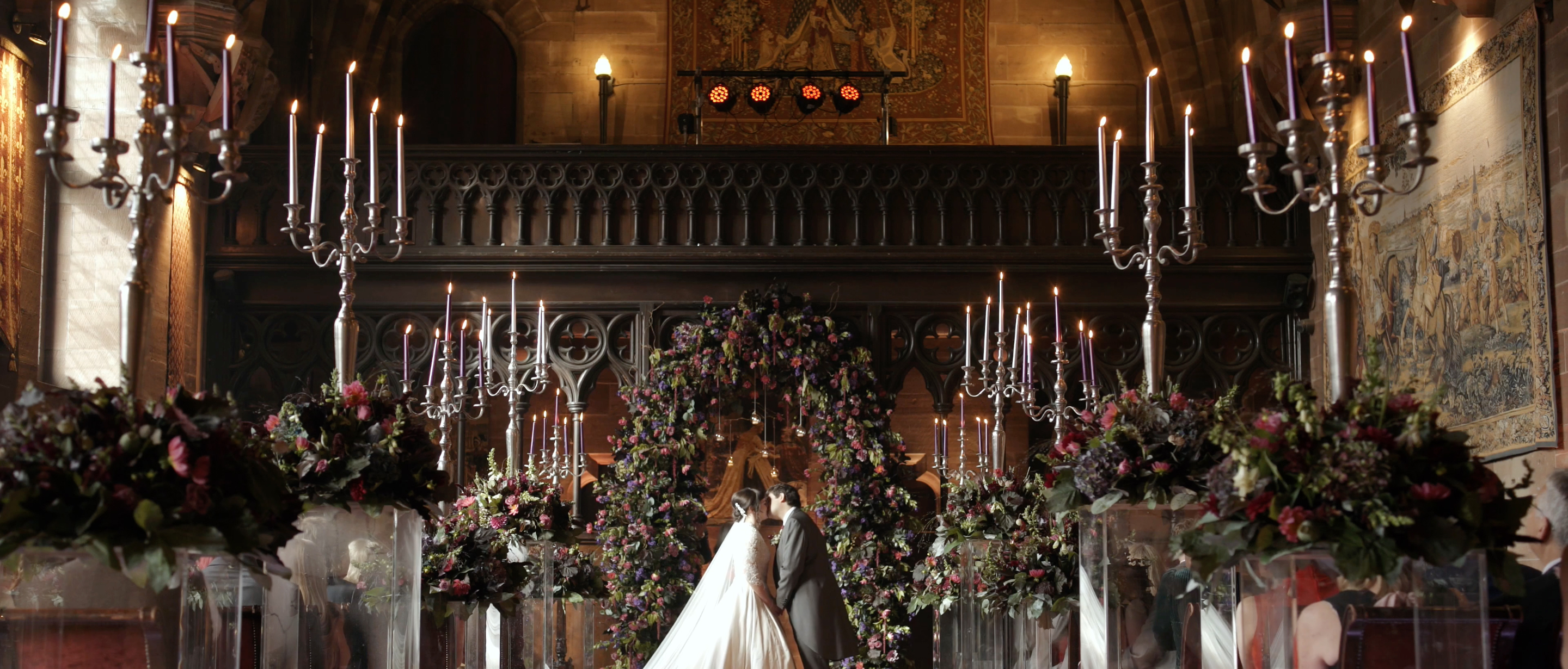 peckforton castle wedding ceremony wedding videographer cheshire